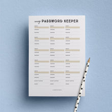 printable password tracker