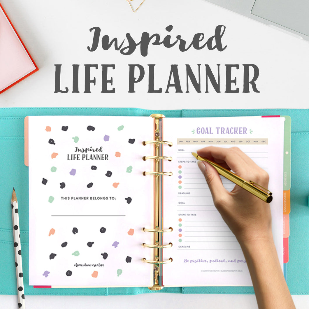 The Inspired Life Planner (+ 16 inspirational quote cards)