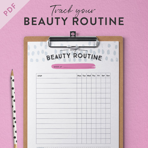 printable beauty routine tracker