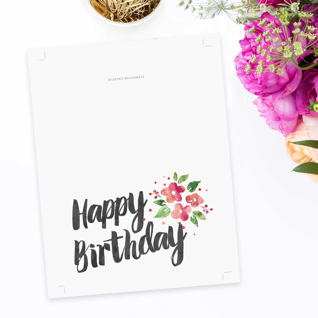 Birthday cards to print for free