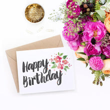 printable birthday card for her with florals