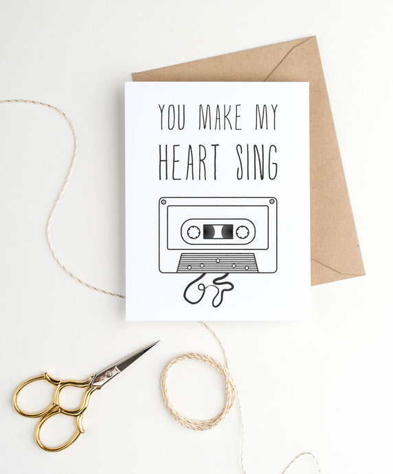 cute black printable valentine's day card