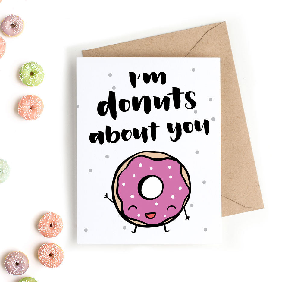 photograph about Donut Valentine Printable named Printable Valentines Working day Card - Im Donuts Relating to On your own