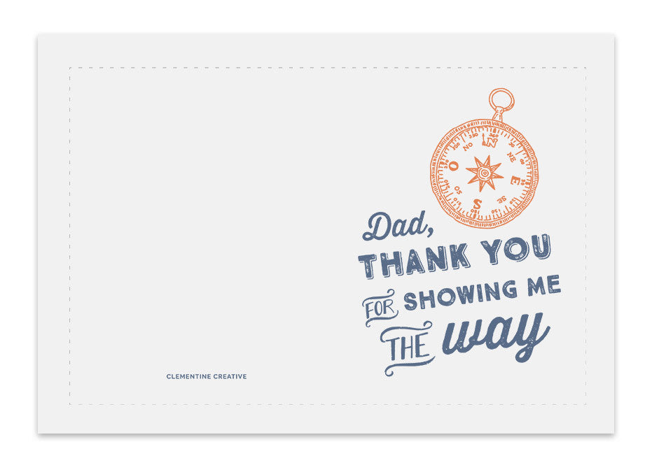 photo relating to Printable Compass known as Printable Fathers Working day Card - Comp
