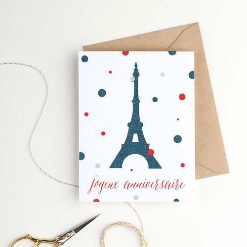 printable french birthday card