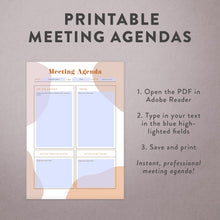 Printable Meeting Agenda Template