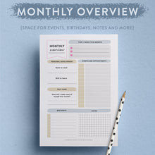 Printable Monthly Planner - Make each month special