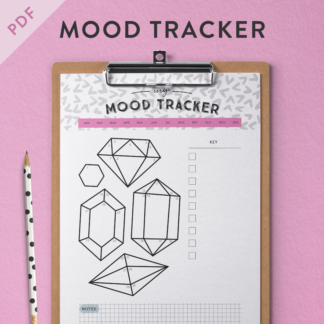 photo relating to Free Mood Tracker Printable named Printable Temper Tracker - hold tack of your psychological health and fitness