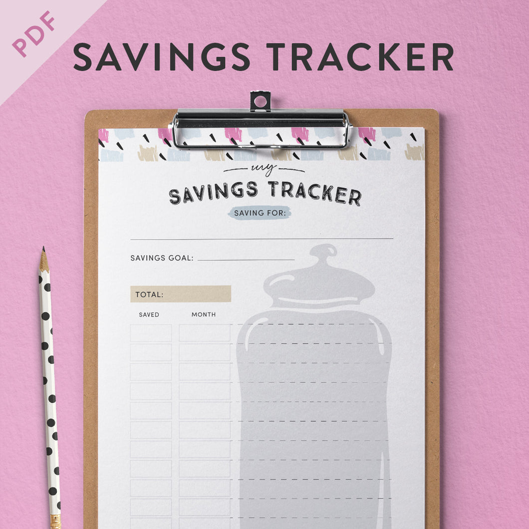 printable savings tracker clementine creative