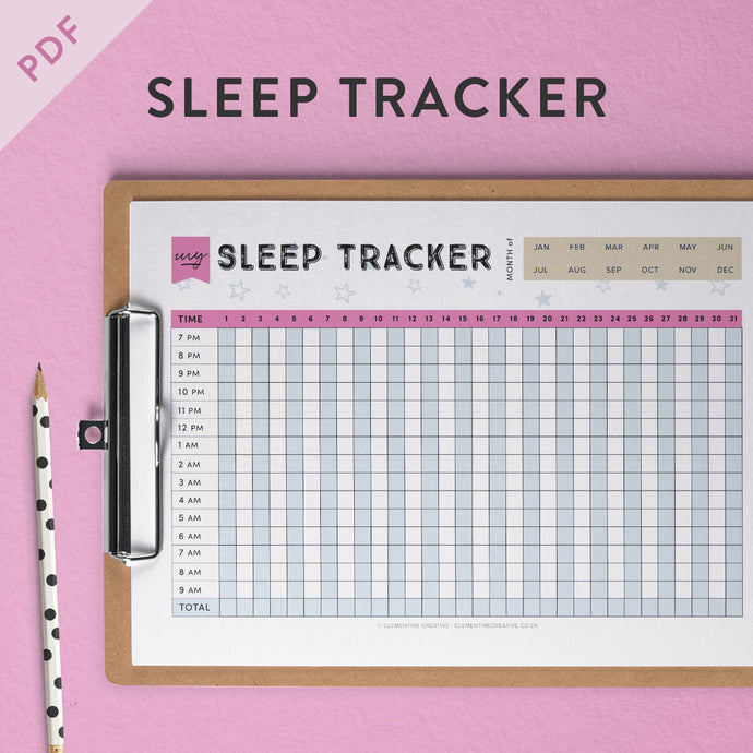 This is a photo of Impertinent Sleep Tracker Printable