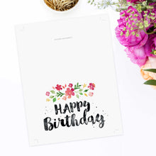 Printable Birthday Card - Spring Blossoms