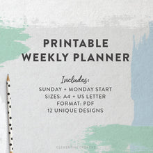 Weekly Planner Kit - 12 Printable Pages
