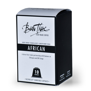 African Blend Capsules l Bean There Fair Trade Coffee