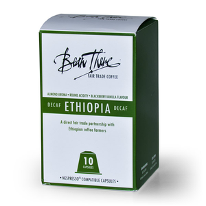 Ethiopian Decaf Capsules l Bean There Fair Trade Coffee
