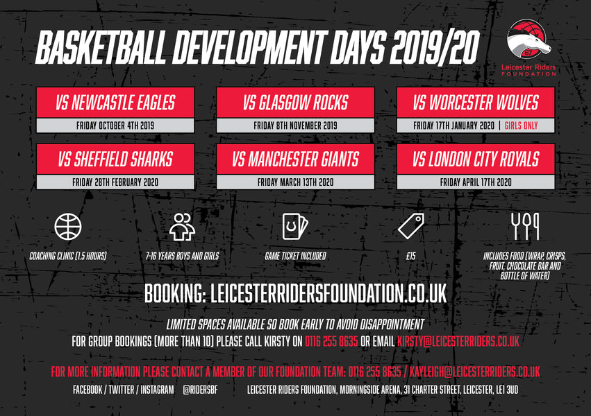 Our New Development Day 2019/20 Timetable!