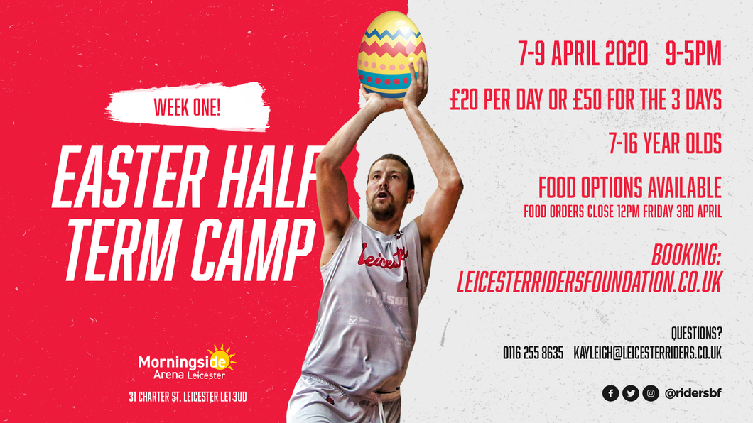 Easter Camp - 7th, 8th, 9th April 2020 (Week 1)
