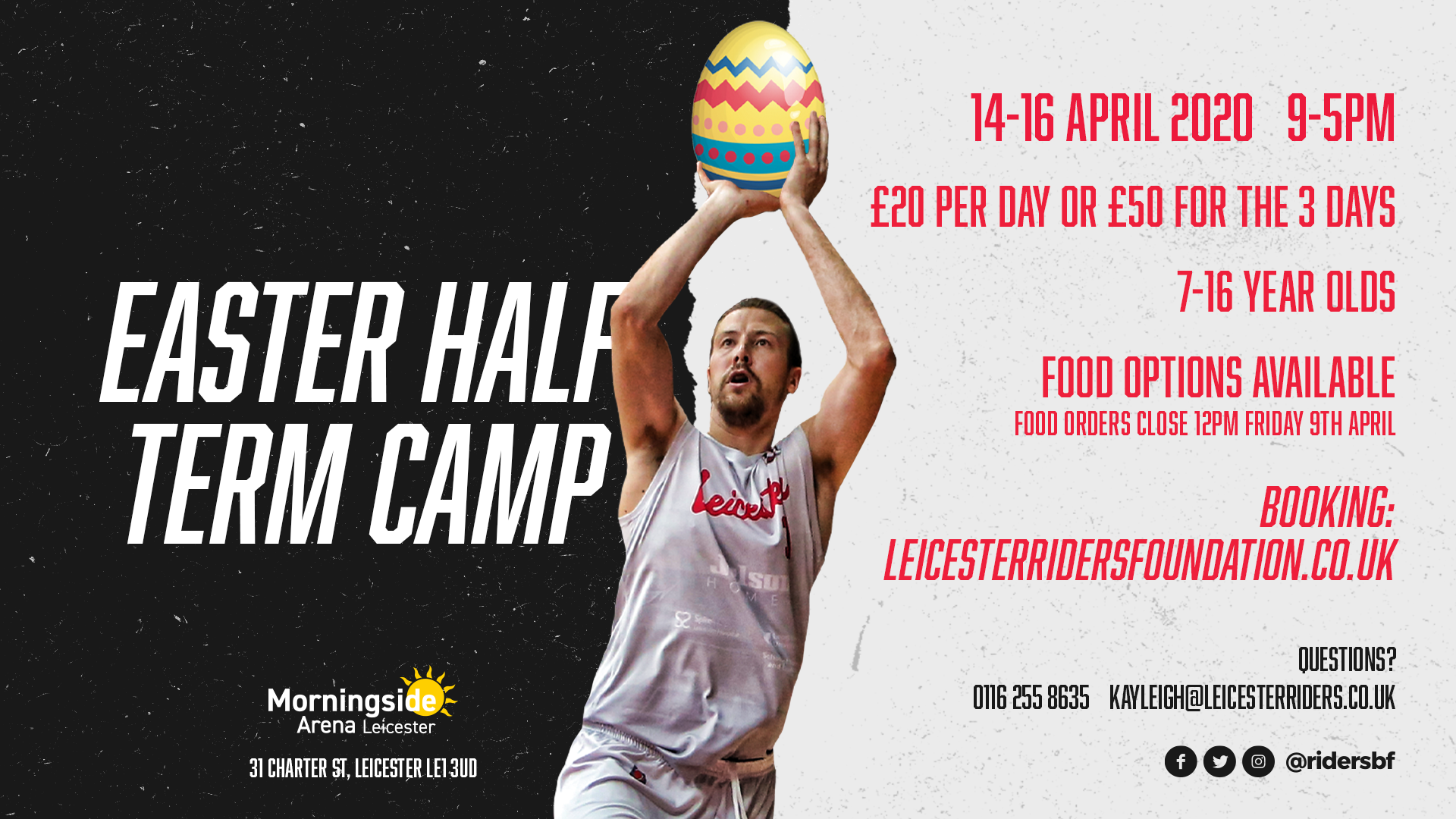 Easter Camp 14th 15th 16th April 2020 Leicester Riders