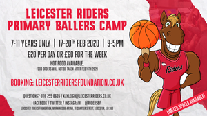 February Primary Ballers Camp - 17th, 18th, 19th, 20th 2020