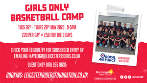Girls Only May Camp - 26th, 27th, 28th May 2020
