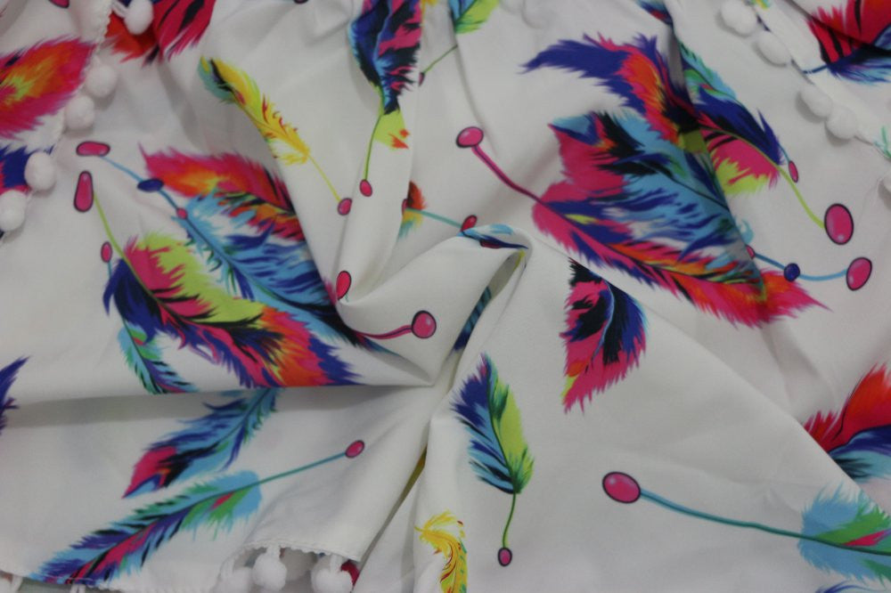Jazzy Feather Shorts