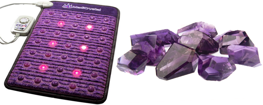 Energy Therapy Made Easy With This Crushed Amethyst Healing Mat