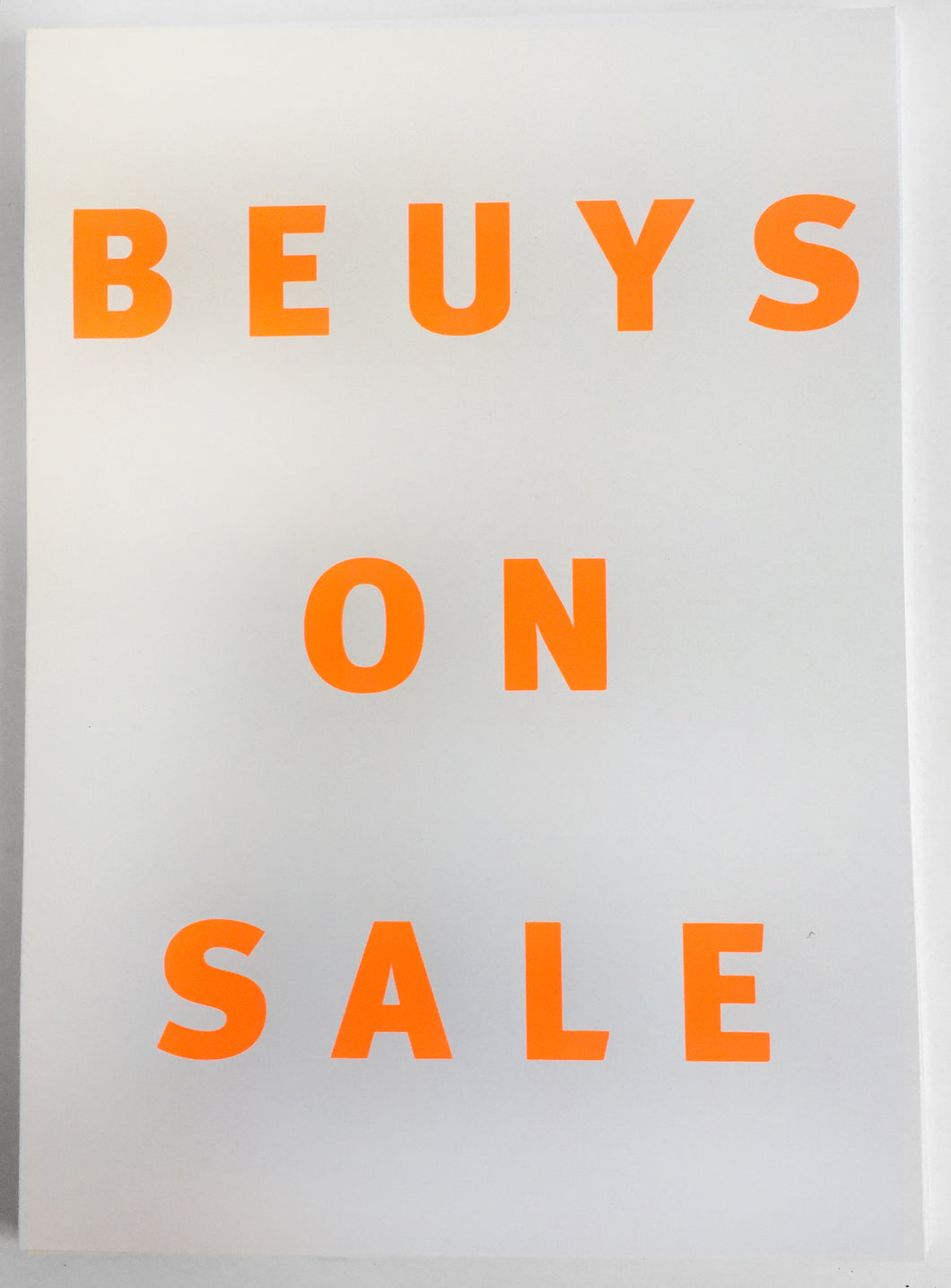 Beuys on Sale screen print | Gfeller & Hellsgård