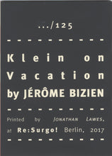 Mini Zine | Klein on Vacation by Jérôme Bizien