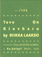 Mini Zine | Tove on Klovharu by Riikka Laakso