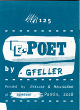 Mini Zine | E-Poet by Gfeller