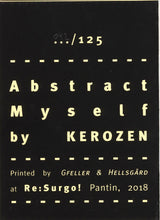 Mini Zine | Abstract Myself by Kerozen
