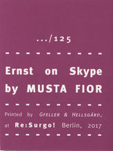 Mini Zine | Ersnt on Skype by Musta Fior
