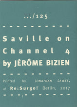 Mini Zine | Saville on Channel 4 by Jérôme Bizien
