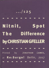 Mini Zine | Nitnit, Spot the Difference by Christian Gfeller