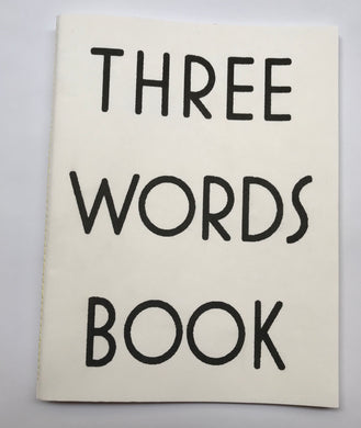 Three Words Book | Makoto Hamagami, Asuka Okajima (Sea Sons Press)