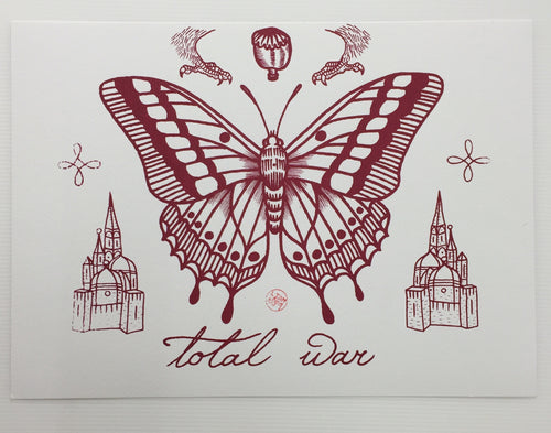 Screen Printed Tattoo Flash 01 | Liam Sparkes