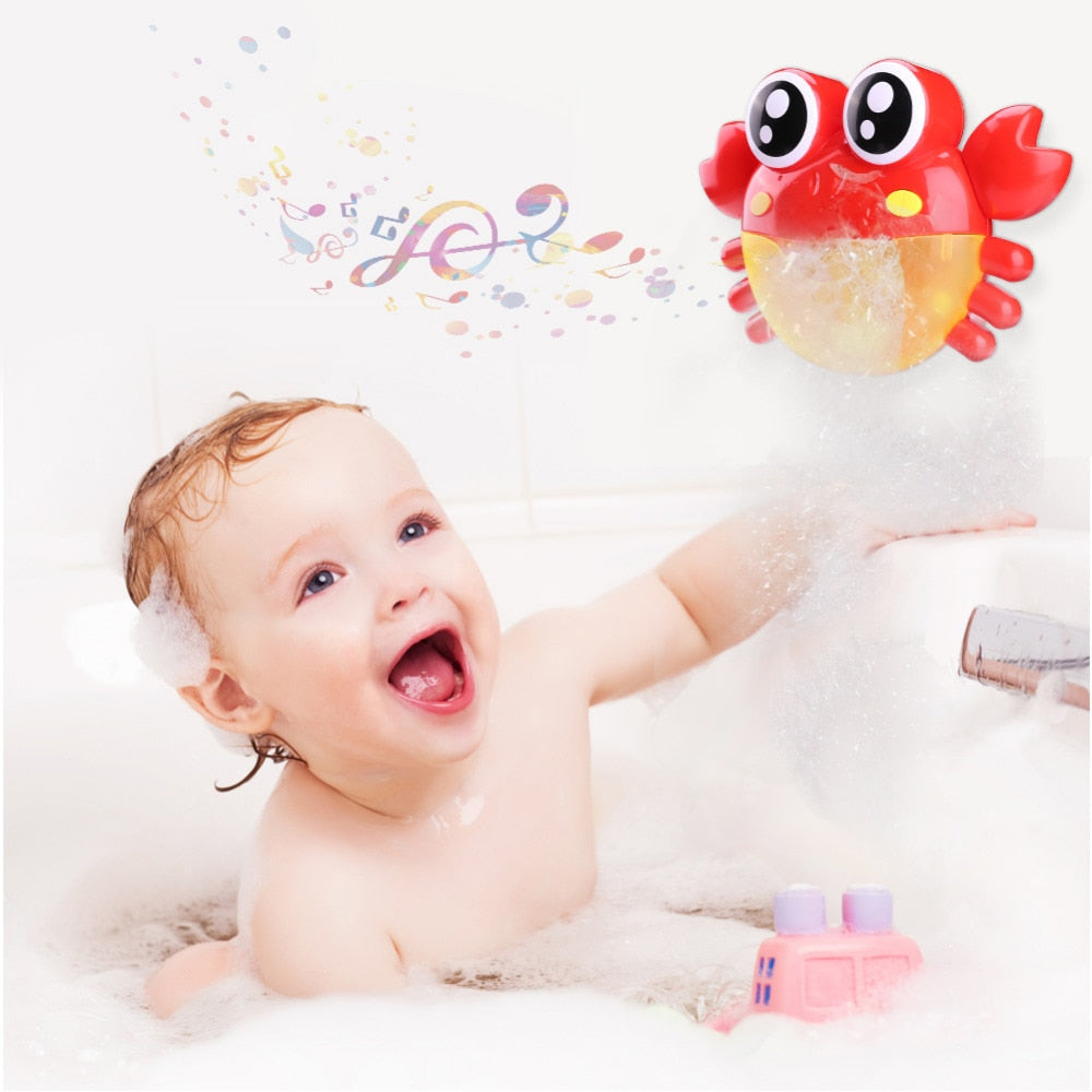 Classic Toys New Arrival Bubble Crabs Baby Bath Toy Funny Bath Bubble Maker Pool Swimming Bathtub Soap Machine Toys For Children Kids Bath Toy