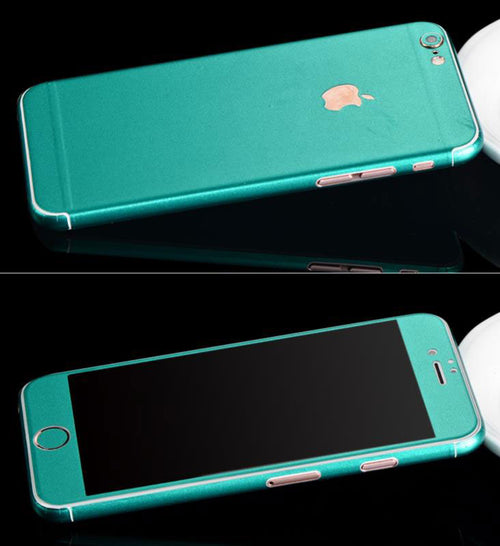 Full-Body Wrap Skins for iPhone - Metallic Teal - Coco and Toffee