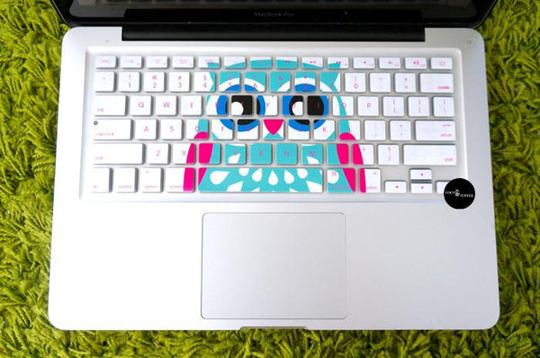 Printed Owl Keyboard Protector - Coco and Toffee