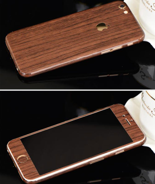 Full-Body Wrap Skins for iPhone - Wood
