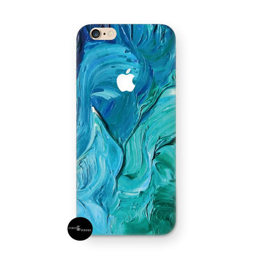 Aqua Swirl iPhone Skin