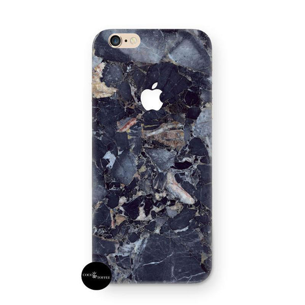 Dark Blue Marble iPhone Skin - Coco and Toffee