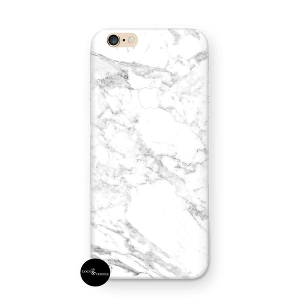 White Marble iPhone Skin - Coco and Toffee