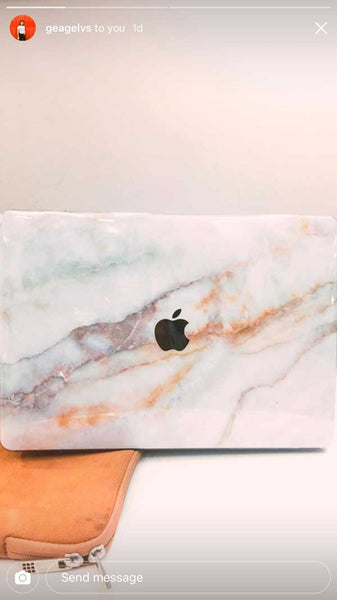 Peach Marble MacBook Skin - Coco and Toffee