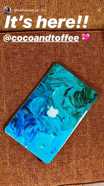 Aqua Swirl MacBook Skin