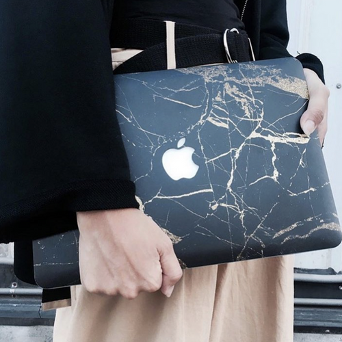 African Gold Marble MacBook Skin