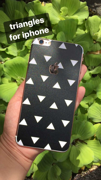 Black Triangles iPhone Skin - Coco and Toffee