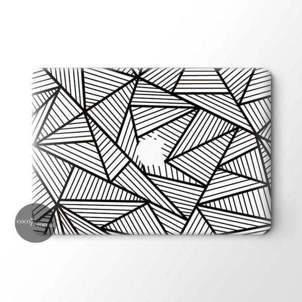 Black Abstract MacBook Skin - Coco and Toffee