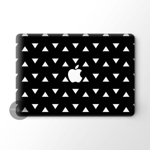 Black Triangles MacBook Skin