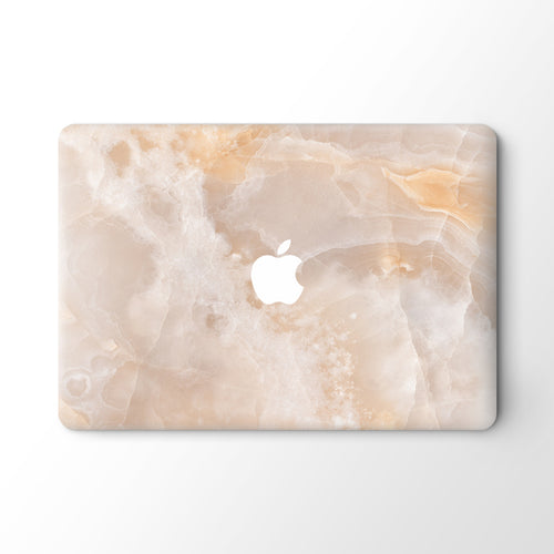 Ecru Marble MacBook Skin - Coco and Toffee