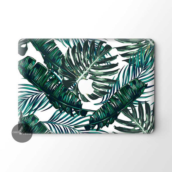Green Tropics MacBook Skin - Coco and Toffee